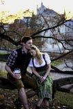 Bayerska par på ett träd Royaltyfri Bild