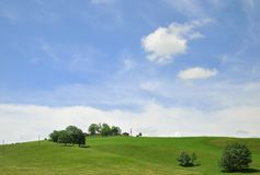 Bayerskt landskap, södra Bayern, Tyskland Härliga kullar och royaltyfria foton