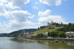 Bayerskt landskap - Wuzburg Royaltyfria Bilder
