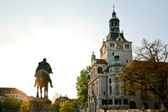 Bayerskt nationellt museum i den Munich Bayern Tyskland royaltyfri bild
