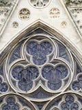Bayeux architektury Katedralny szczegół, Francja Zdjęcia Royalty Free