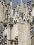 Bayeux architektury Katedralny szczegół, Francja Obrazy Stock