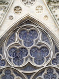 Bayeux Cathedral architecture detail, France. The Bayeux Cathedral (Cathédrale Notre-Dame de Bayeux) is a Norman-Romanesque cathedral, located in the town of Royalty Free Stock Photos