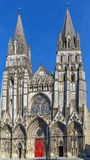Bayeux Cathedral, France. Bayeux Cathedral is a Norman-Romanesque cathedral, located in the town of Bayeux, France Stock Photography