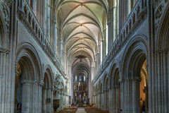 Bayeux Cathedral, France. Bayeux Cathedral is a Norman-Romanesque cathedral, located in the town of Bayeux, France. Interior Royalty Free Stock Images