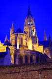 Bayeux Cathedral Lights. Bayeux Cathedral in evening light Stock Image