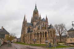 Bayeux Cathedral. In Normandy Calvados France Royalty Free Stock Photography