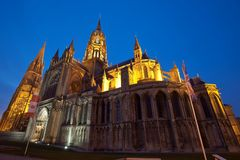 Bayeux Cathedral Normandy France stock photos