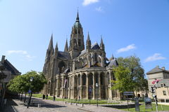 Bayeux cathedral. Picture of the Cathedral of Bayeux in France Royalty Free Stock Images