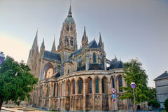 Bayeux Cathedral on a summer's evening Royalty Free Stock Images