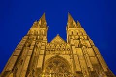 bayeux domkyrkafrance normandy torn Fotografering för Bildbyråer