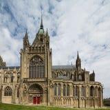 Bayeux-Kathedrale in Normandie, Seitenansicht stockbilder
