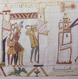 Bayeux-Tapisserie Stockfoto