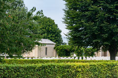 Bayeux War Cemetery. The Bayeux War Cemetery contains 4,144 Commonwealth burials of the Second World War, 338 of them unidentified. There are also over 500 war Royalty Free Stock Photos