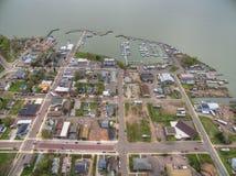 Bayfield Wisconsin ed il lago Superiore immagini stock