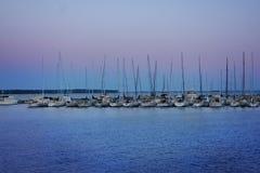 Bayfield Wisconsin marina royaltyfria bilder
