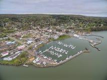 Bayfield Wisconsin y el lago Superior fotos de archivo