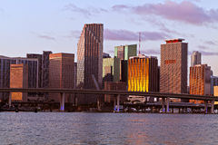 bayfront śródmieście Miami Obrazy Royalty Free