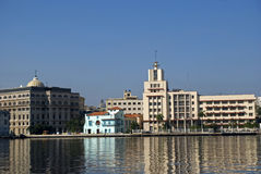 Bayfront, Havana, Cuba Royalty Free Stock Photography