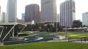 Bayfront Park. Walking by bayfront Park in downtown Miami Stock Photos