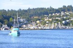 Bayfront van Nieuwpoort, Oregon Stock Foto's