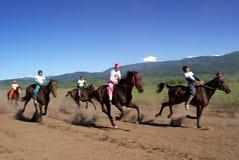 Bayga - traditional nomad horses racing Stock Photography