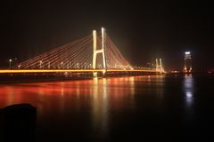 Bayi Bridge - the first cable-stayed bridge in Jiangxi Province. The 81 bridge is located 50 meters above the original bridge, with a total length of more than Royalty Free Stock Photography