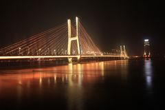 Bayi Bridge - the first cable-stayed bridge in Jiangxi Province. The 81 bridge is located 50 meters above the original bridge, with a total length of more than Royalty Free Stock Image