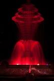 Bayliss parkerar den röda springbrunnen Royaltyfri Bild