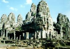 bayon复杂在Angkor,柬埔寨 免版税库存照片