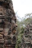 Bayon寺庙在吴哥,暹粒,柬埔寨 图库摄影