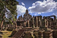 Bayon寺庙在暹粒,柬埔寨 免版税库存图片