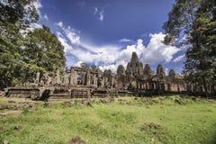 Bayon寺庙在暹粒,柬埔寨 免版税图库摄影