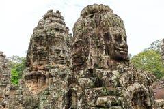 Bayon寺庙在柬埔寨的吴哥城地区 库存照片