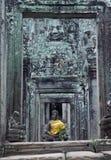 Bayon寺庙在吴哥城 免版税图库摄影