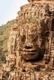 Bayon寺庙的石面孔 免版税图库摄影
