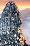 Bayon寺庙雕象,吴哥,暹粒,柬埔寨 免版税库存照片