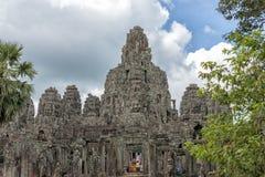 bayon柬埔寨寺庙 免版税图库摄影