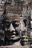 bayon柬埔寨微笑雕象 库存照片