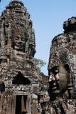 bayon柬埔寨微笑雕象 库存图片