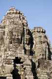 bayon柬埔寨面对寺庙塔 图库摄影