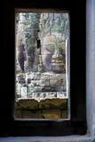bayon菩萨・柬埔寨表面s寺庙 免版税库存照片