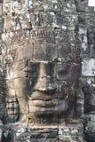bayon表面石头寺庙 柬埔寨收割siem 库存照片