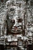 bayon被雕刻的表面寺庙 库存照片