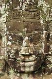 Bayon面对,吴哥,柬埔寨 免版税库存图片