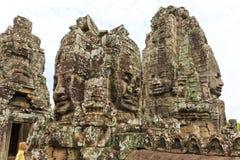 Bayon,亦称Prasat Bayon,一知名的Tem 免版税库存图片