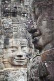 Bayon świątyni twarze w Angkor Kambodża obrazy stock