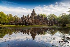 Bayon świątynia, Angkor Thom, Siem Przeprowadza żniwa obraz stock