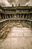 Bayon świątynia i Angkor Wat Khmer kompleks w Siem Przeprowadzamy żniwa, Kambodża Fotografia Royalty Free