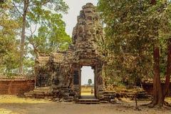Bayon świątynia w Angkor Thom, Siem Przeprowadza żniwa fotografia royalty free